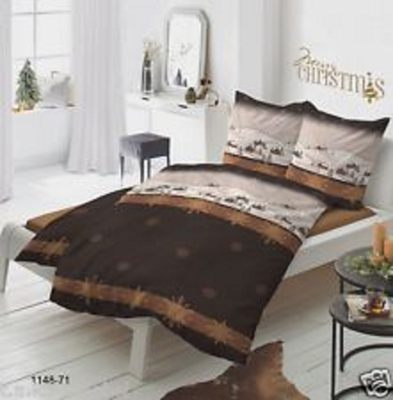 bettw sche weihnachten biber flanell christmas. Black Bedroom Furniture Sets. Home Design Ideas